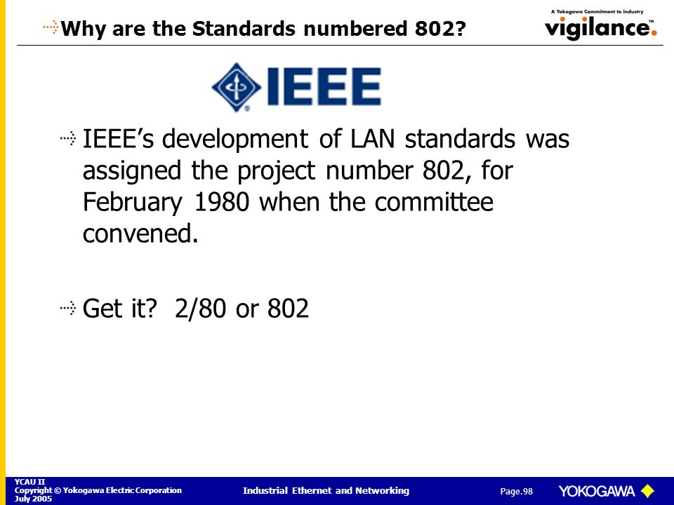 Why are the Standards numbered 802