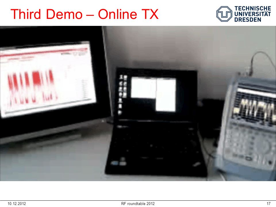 Third Demo – Online TX 10.12.2012 RF roundtable 2012