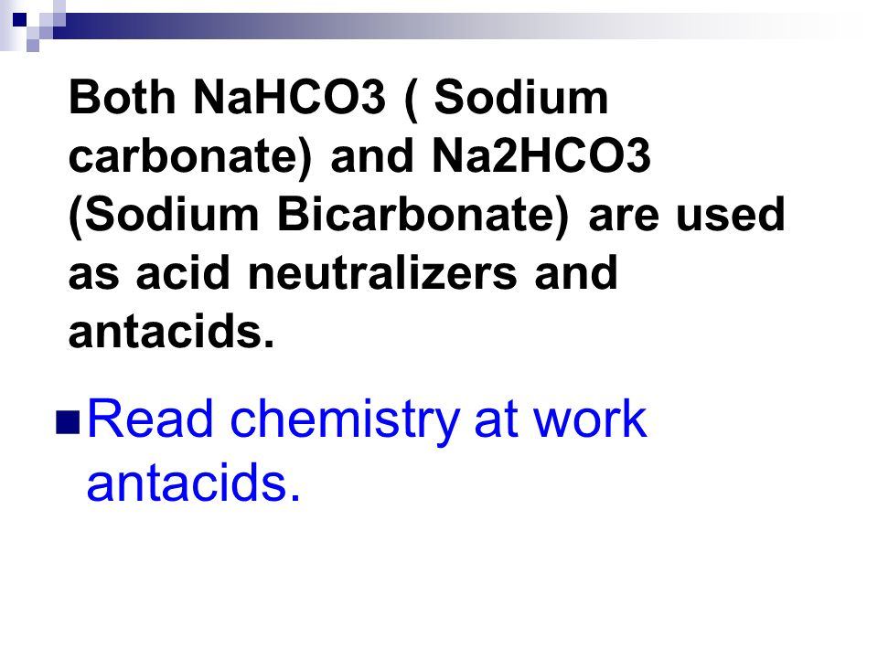 Read chemistry at work antacids.