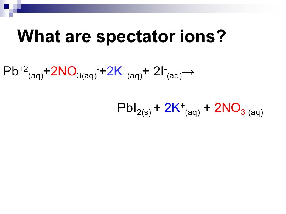What are spectator ions