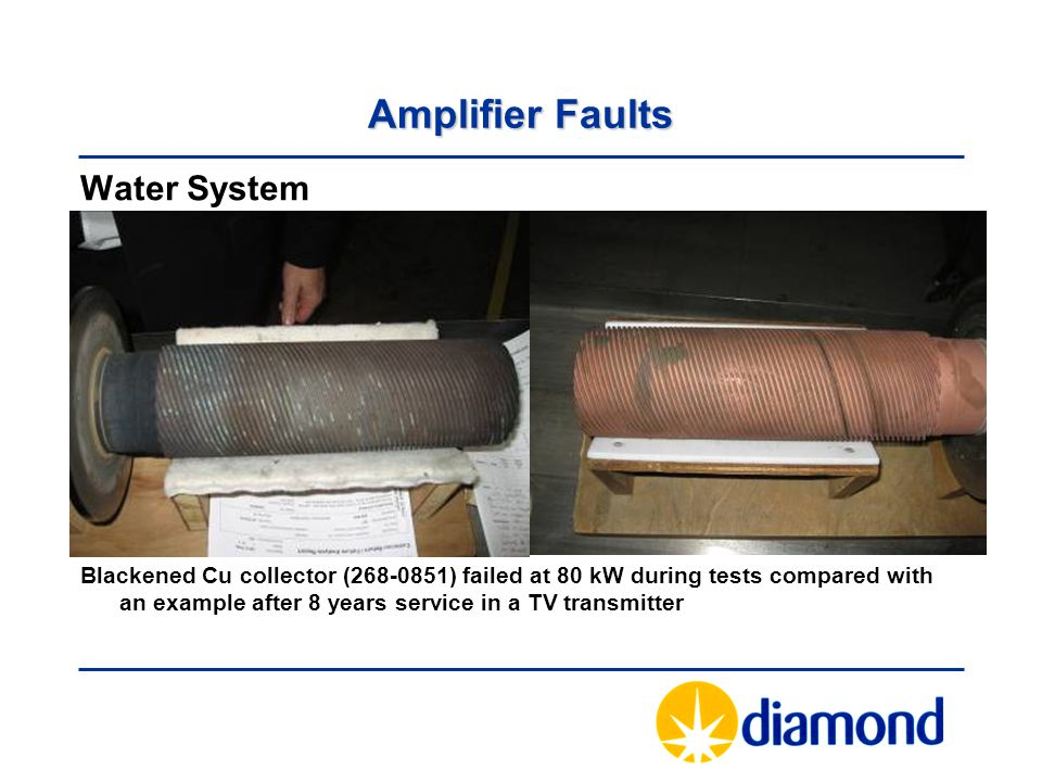 Amplifier Faults Water System