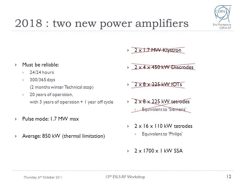 2018 : two new power amplifiers