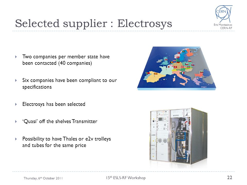 Selected supplier : Electrosys