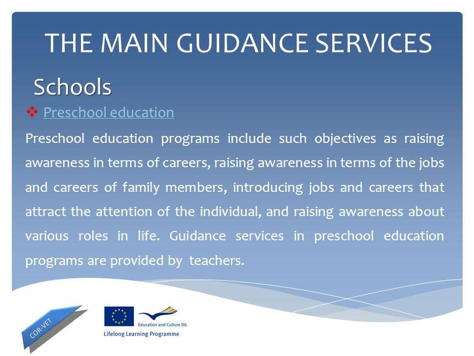 THE MAIN GUIDANCE SERVICES