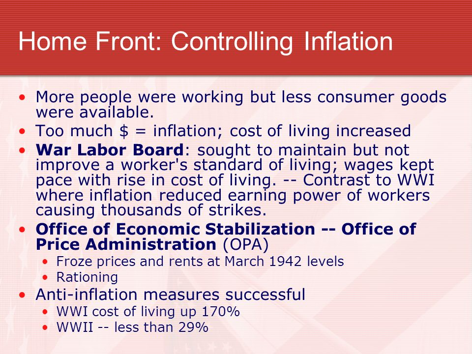 Home Front: Controlling Inflation