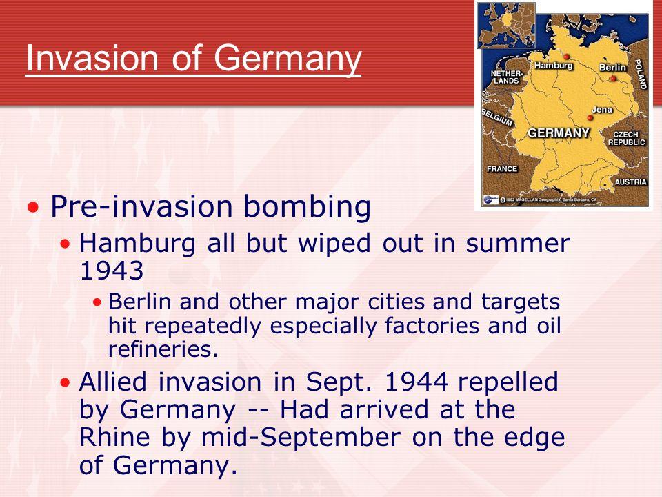 Invasion of Germany Pre-invasion bombing