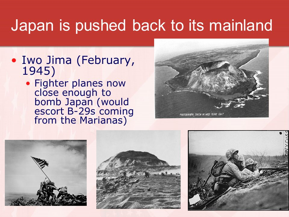 Japan is pushed back to its mainland