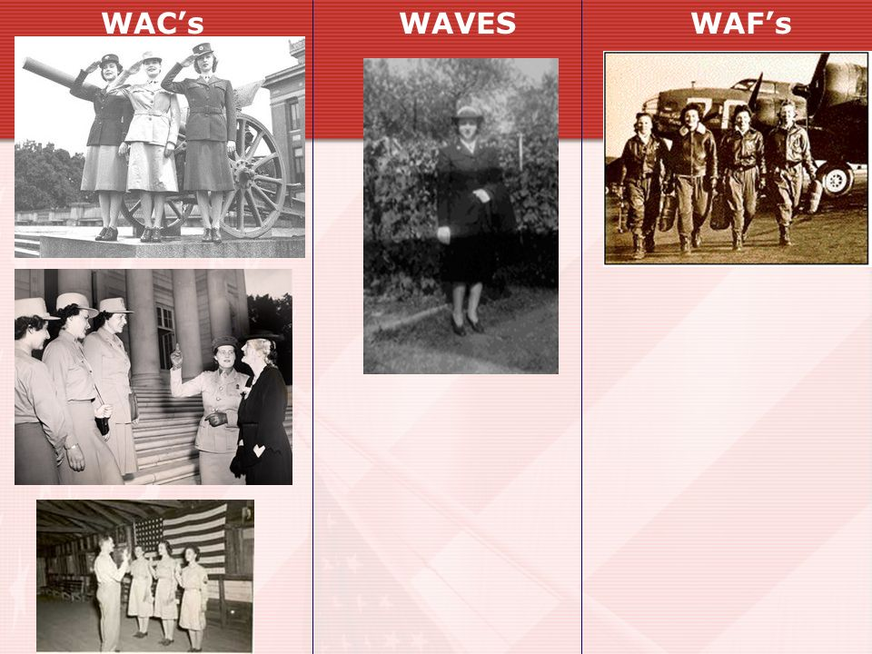 WAC's WAVES WAF's
