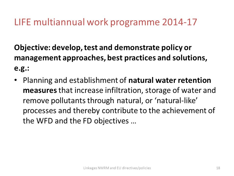 LIFE multiannual work programme 2014-17