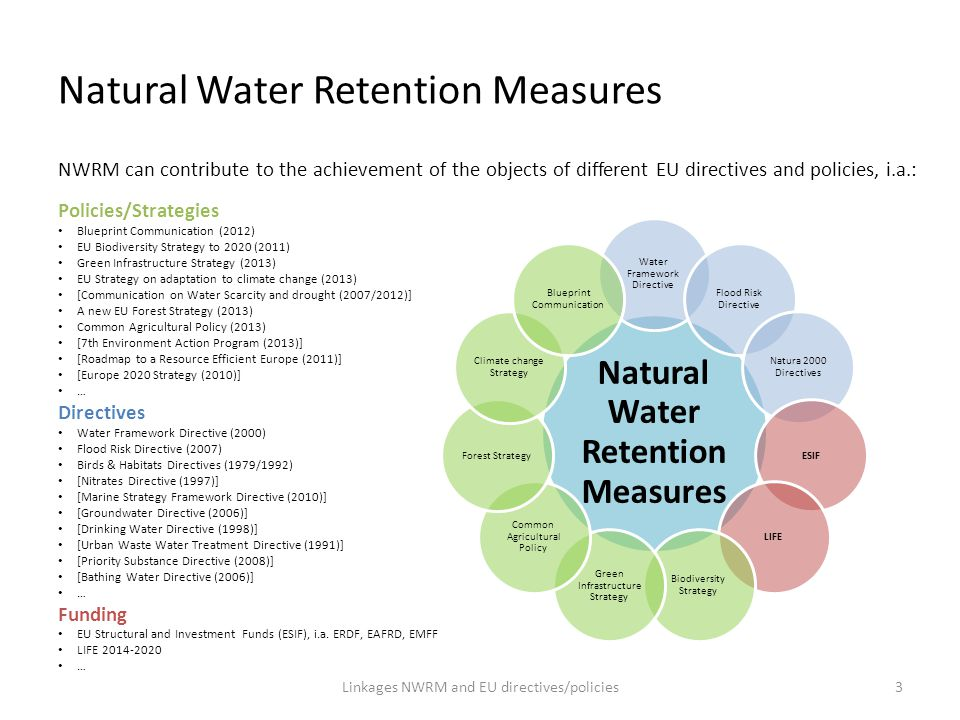 Natural Water Retention Measures