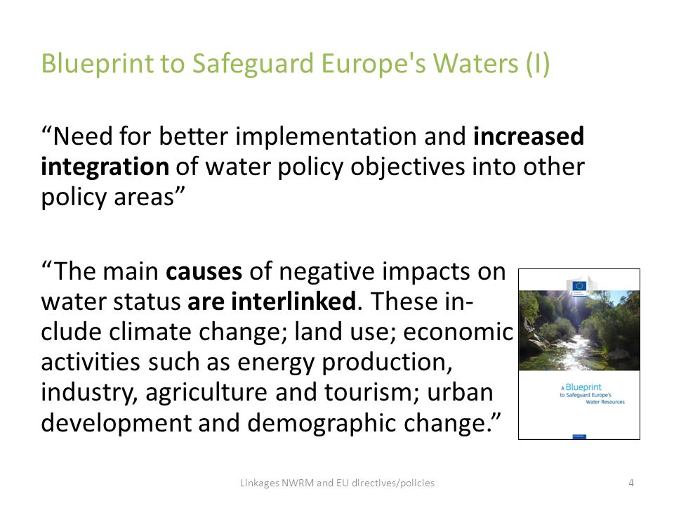 Blueprint to Safeguard Europe s Waters (I)