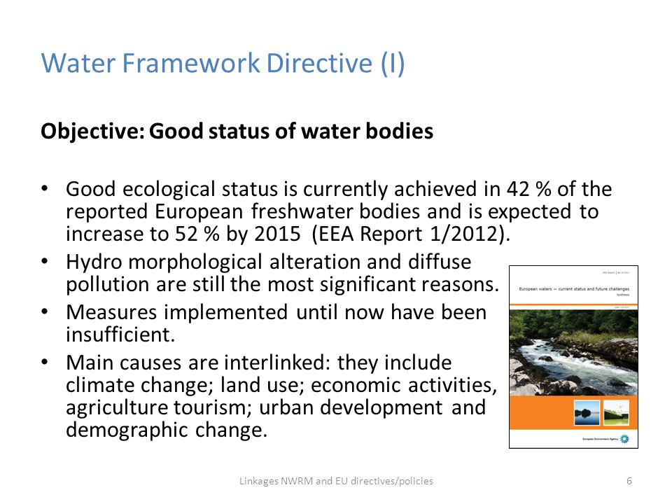 Water Framework Directive (I)