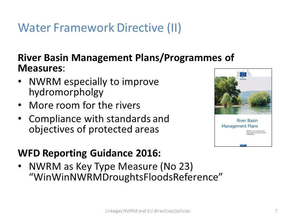 Water Framework Directive (II)