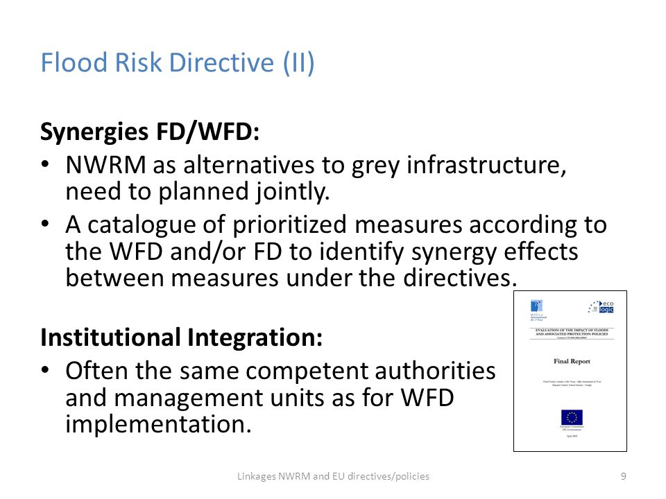 Flood Risk Directive (II)