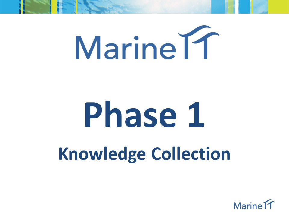 Phases of MarineTT 3. Knowledge Transfer 1. Knowledge Collection