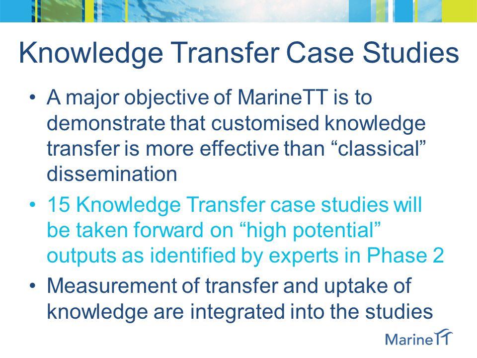Dissemination vs. Knowledge Transfer
