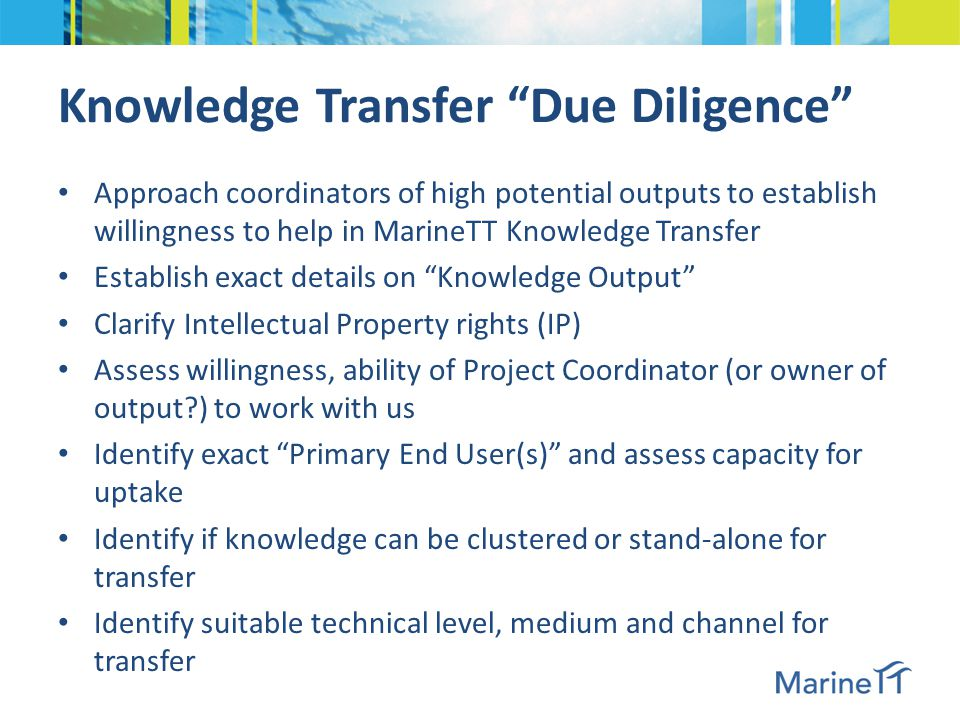 Knowledge Transfer Case Studies