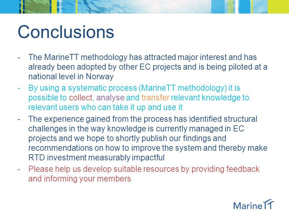 Some Key Insights from MarineTT