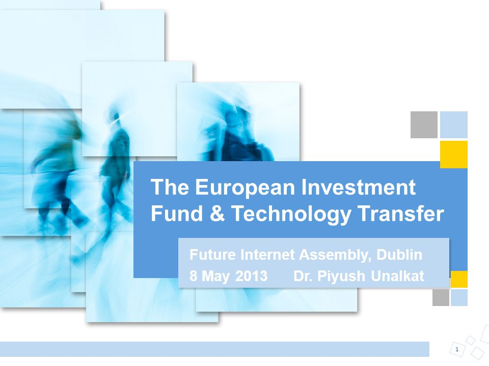 The European Investment Fund & Technology Transfer