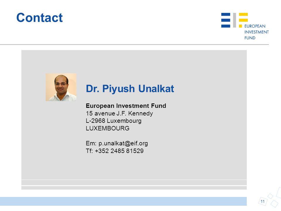 Contact Dr. Piyush Unalkat European Investment Fund