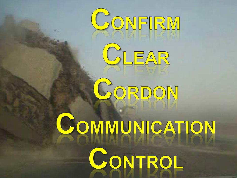 Confirm Clear CORDON COMMUNICATION CONTROL