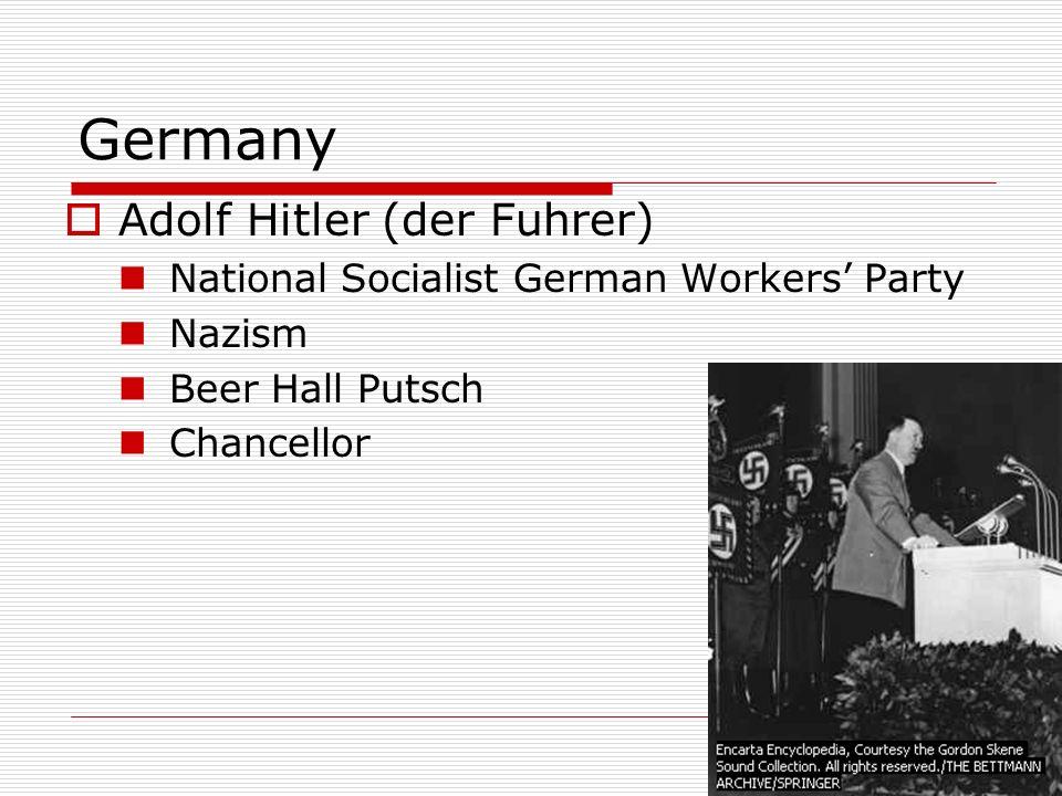 Germany Adolf Hitler (der Fuhrer)