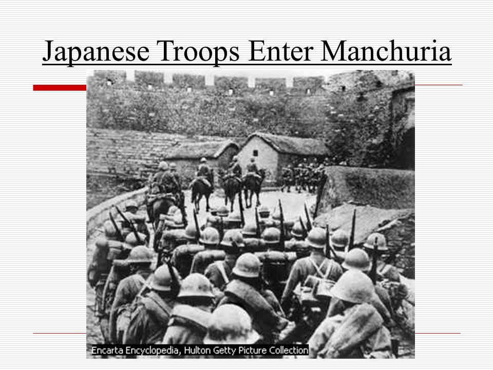 Japanese Troops Enter Manchuria
