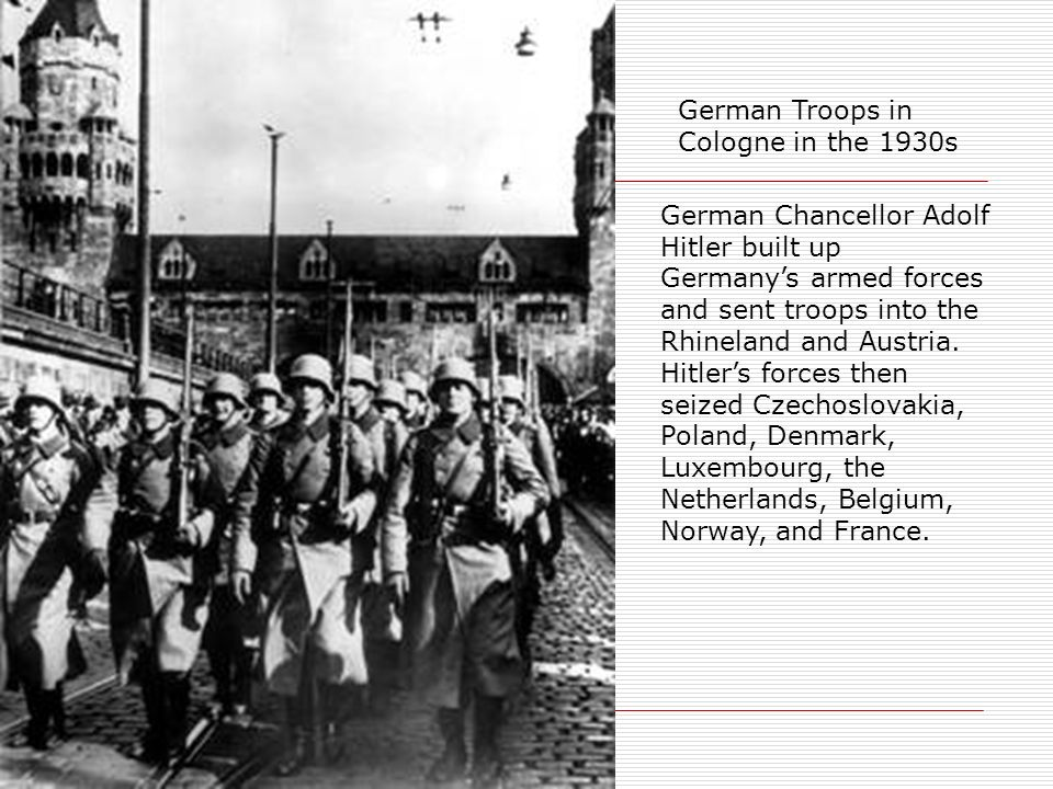 German Troops in Cologne in the 1930s
