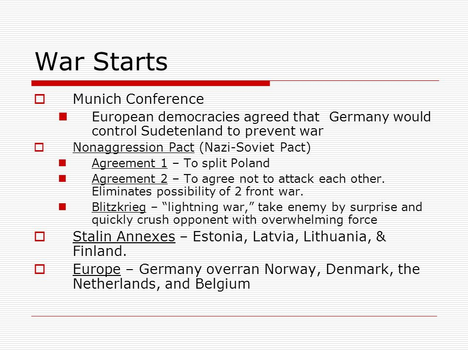 War Starts Munich Conference