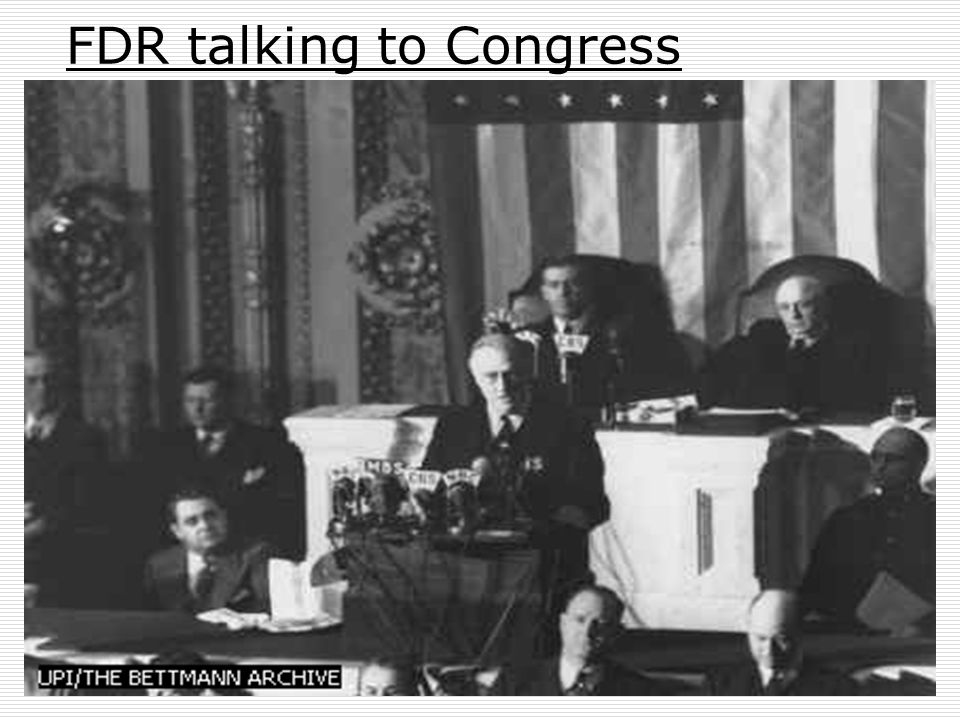 FDR talking to Congress
