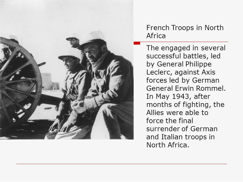 French Troops in North Africa