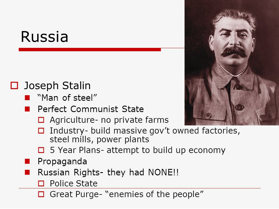 Russia Joseph Stalin Man of steel Perfect Communist State Propaganda