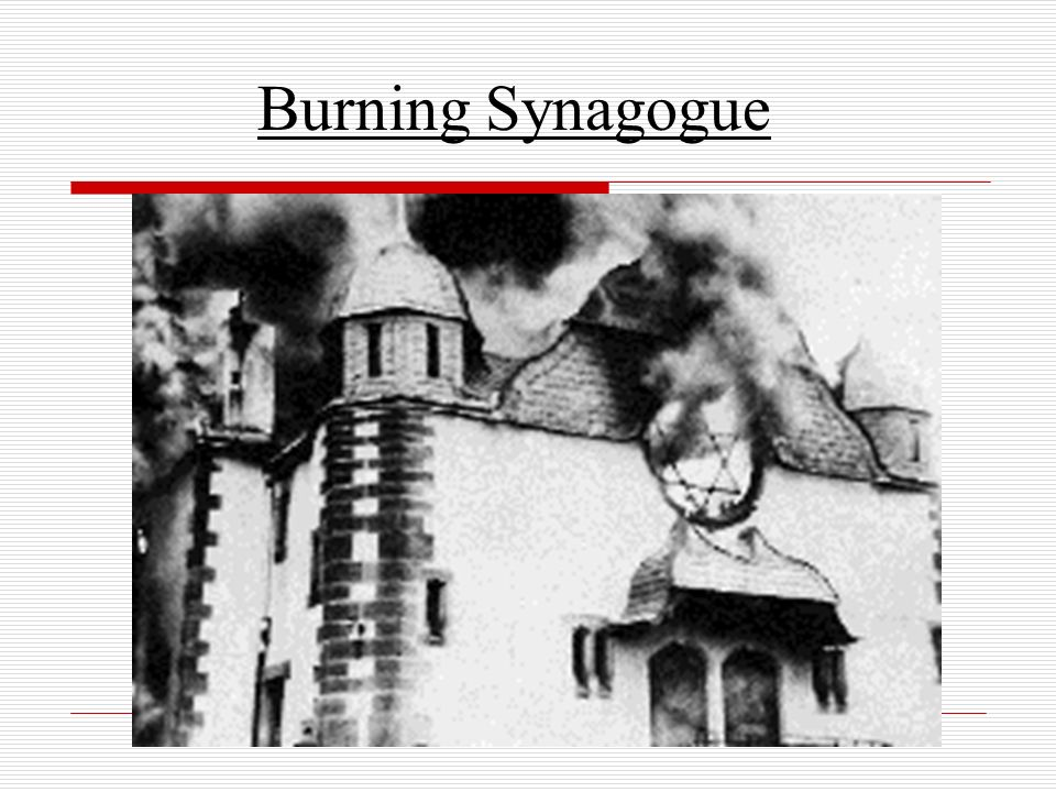 Burning Synagogue