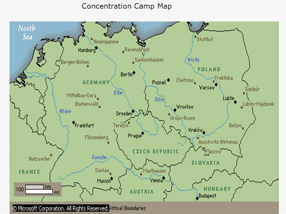 Concentration Camp Map