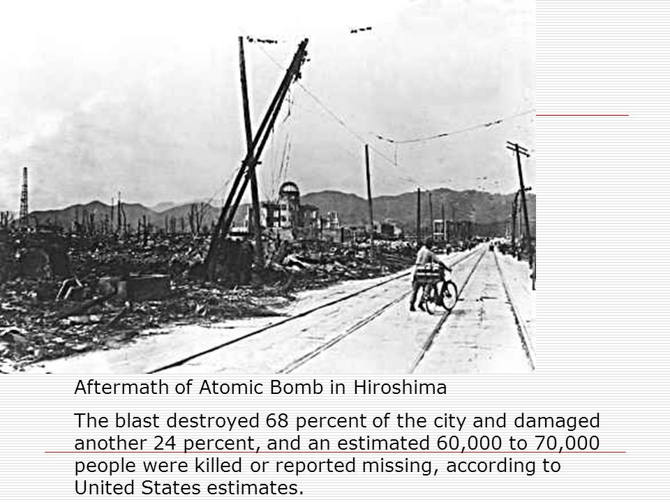 Aftermath of Atomic Bomb in Hiroshima
