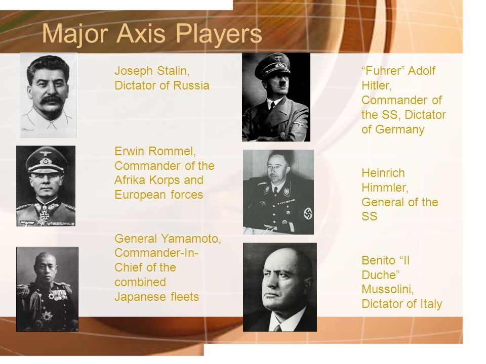Major Axis Players Joseph Stalin, Dictator of Russia