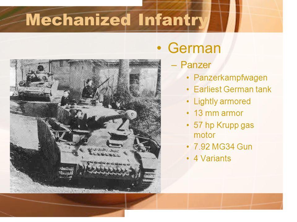 Mechanized Infantry German Panzer Panzerkampfwagen