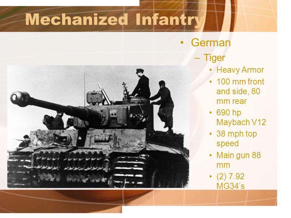 Mechanized Infantry German Tiger Heavy Armor