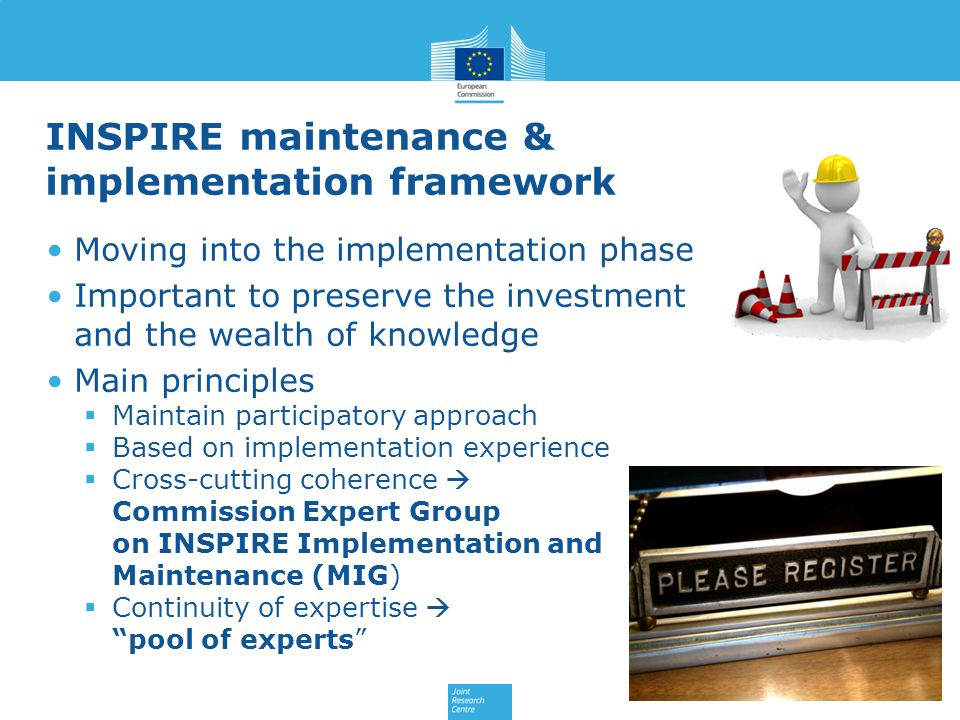 INSPIRE maintenance & implementation framework