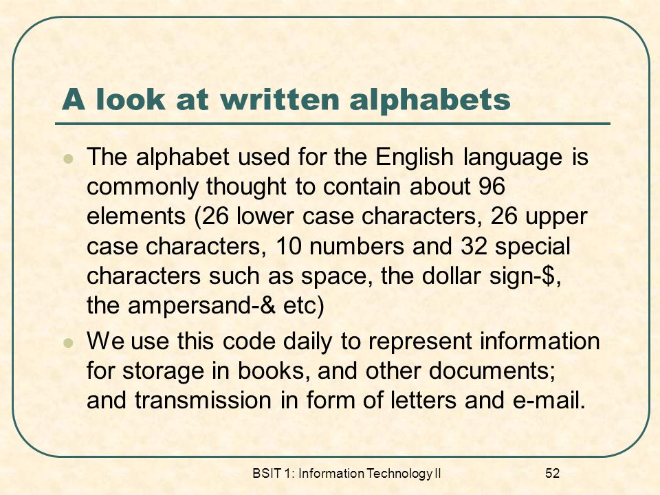 A look at written alphabets