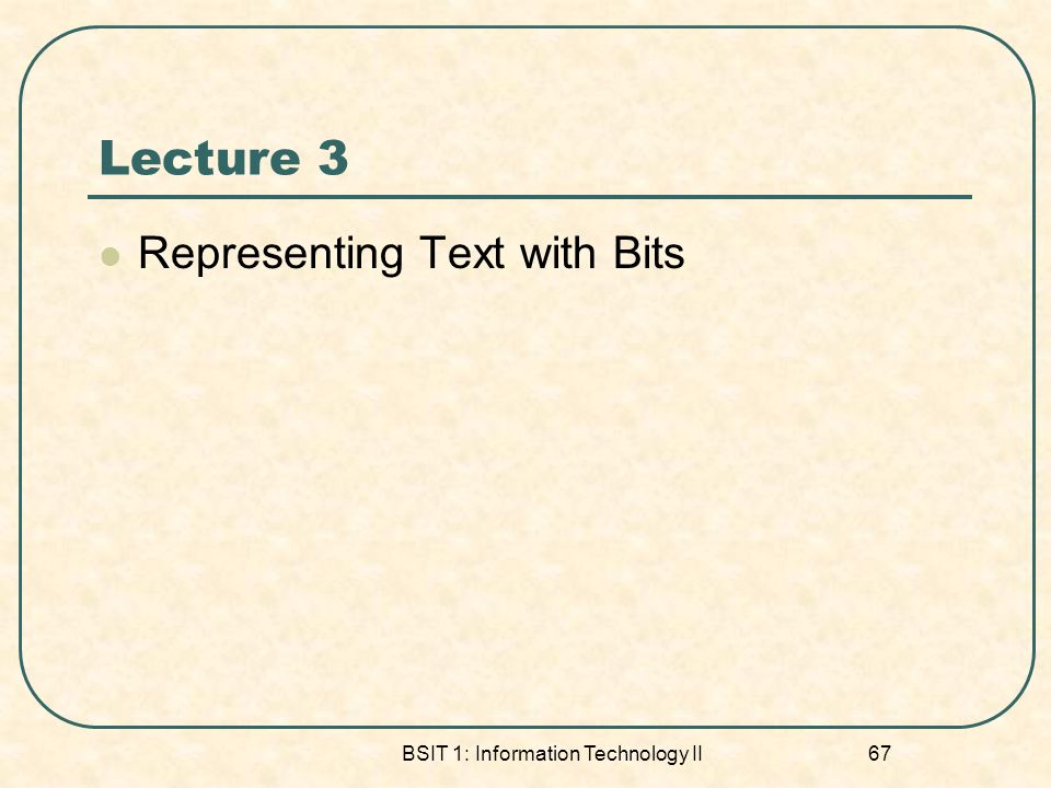 BSIT 1: Information Technology II