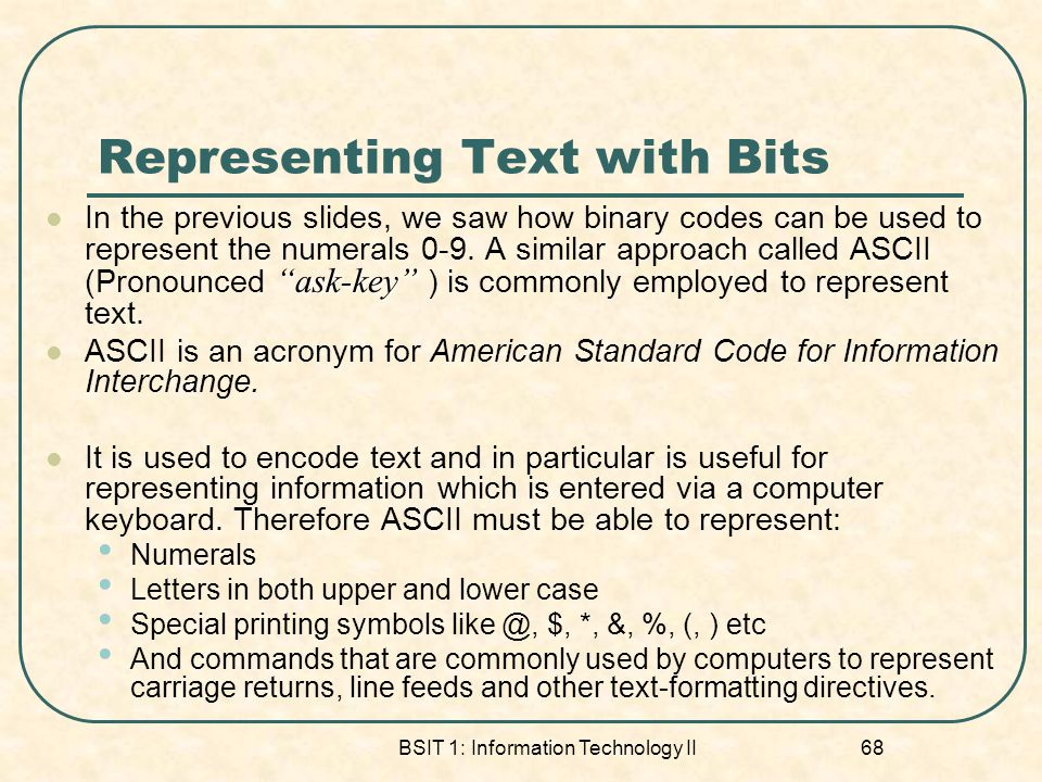Representing Text with Bits
