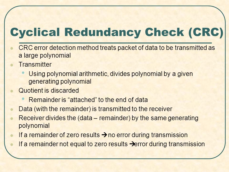 Cyclical Redundancy Check (CRC)