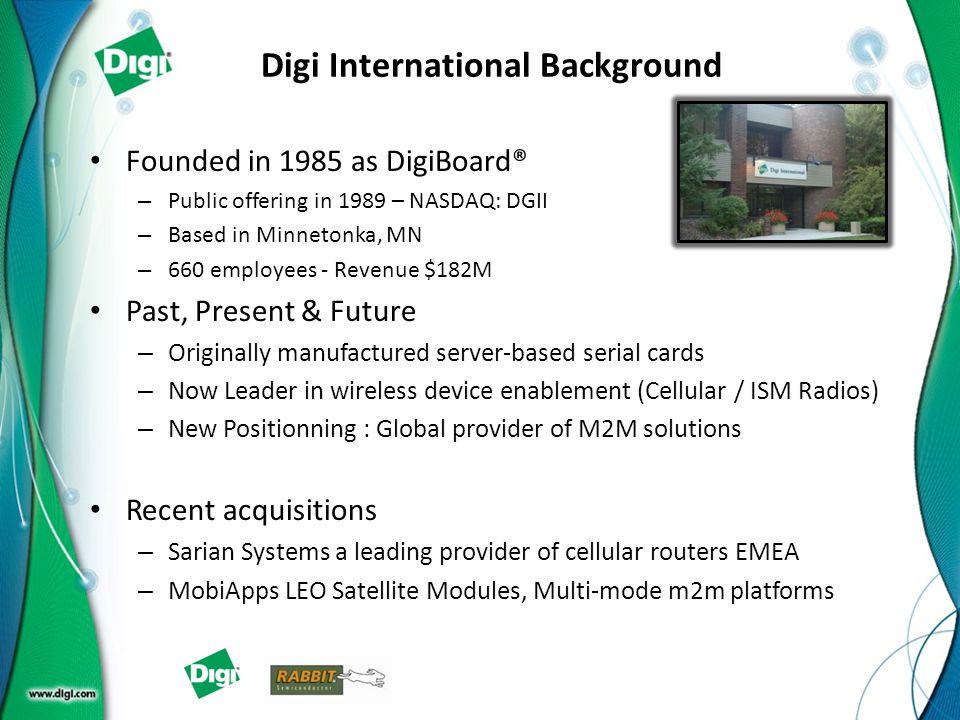 Digi International Background