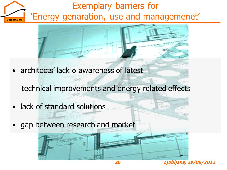 Exemplary barriers for 'Energy genaration, use and managemenet'