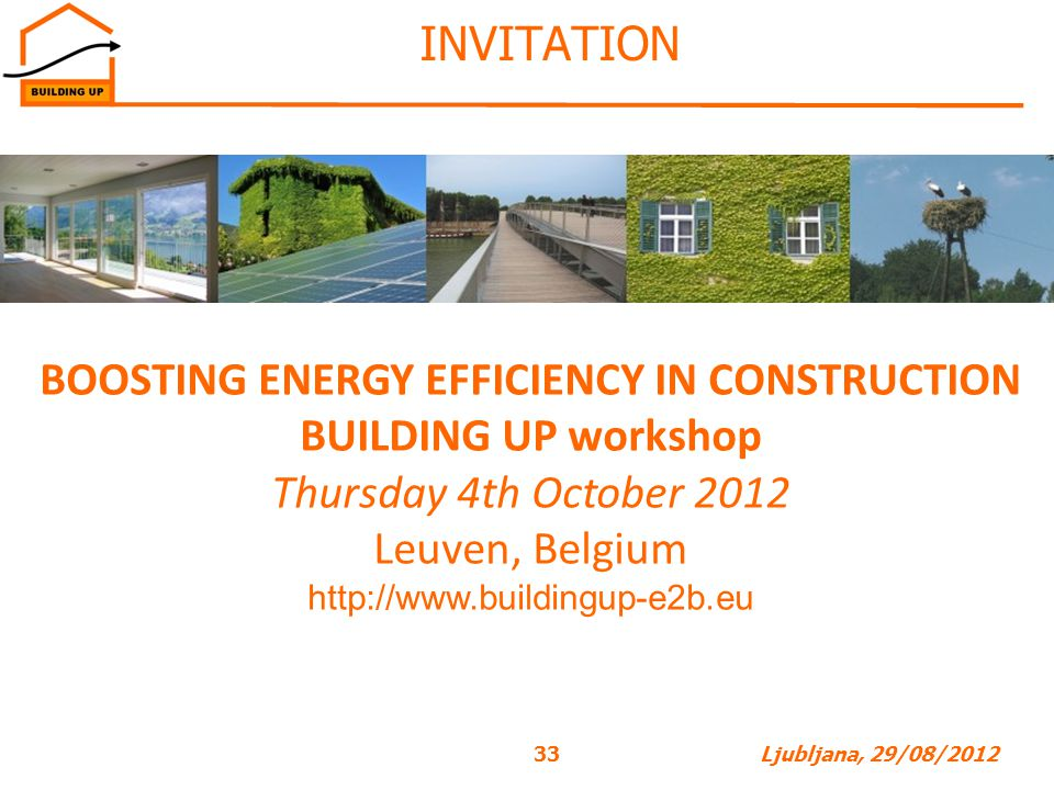 BOOSTING ENERGY EFFICIENCY IN CONSTRUCTION