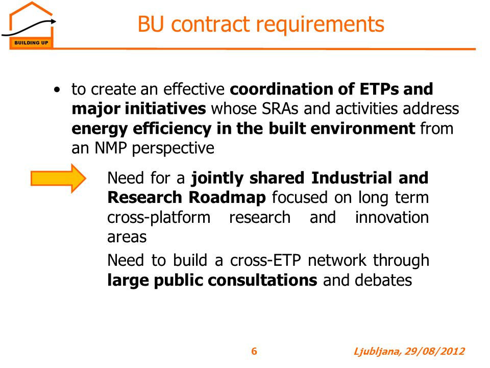 BU contract requirements