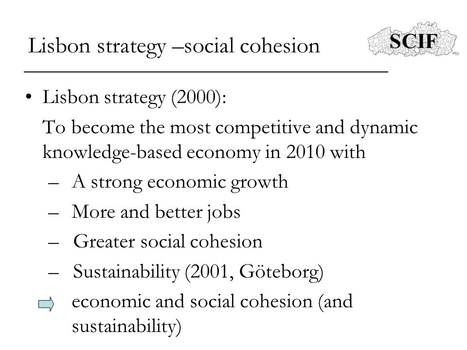 Lisbon strategy –social cohesion