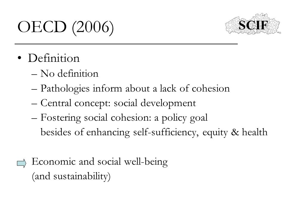 OECD (2006) Definition No definition