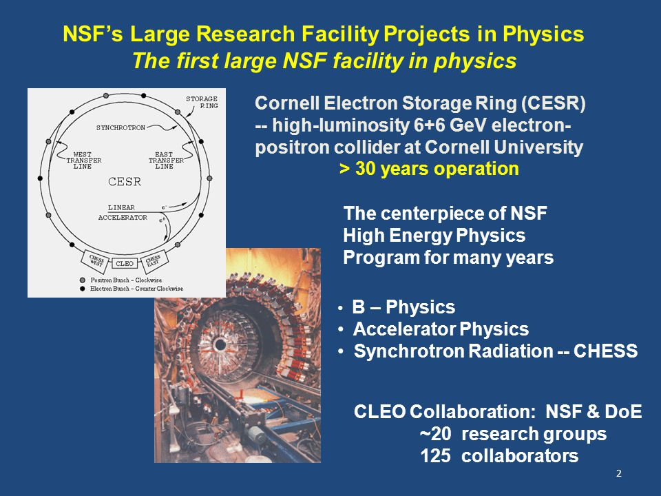 NSF's Large Research Facility Projects in Physics